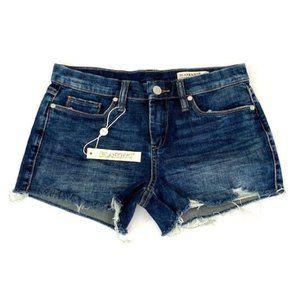 Blank NYC Jean Cut-Off Hiker Shorts Distressed